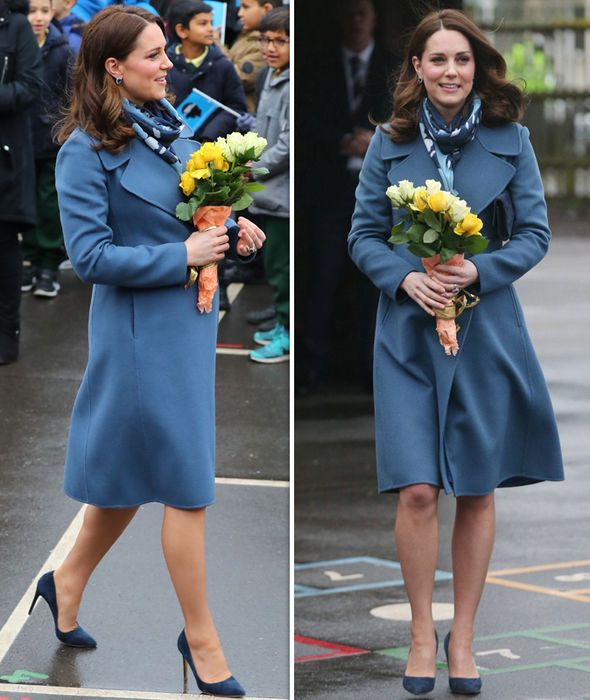 78674da7f14 Kate Middleton shows off growing baby bump as she displays thrifty ...