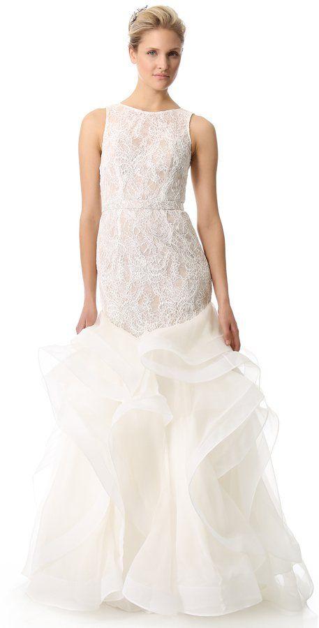 Pin for Later: Les Meilleures Robes de Mariée du Web  Theia Robe Sirène en Tulle (1,819€)