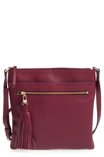 edad7a9434 Image of Halogen Tasseled Leather Crossbody Bag
