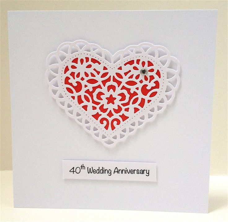 A beautiful lace heart on red background. Perfect for a ruby anniversary. Click and save 10 percent now with coupon code PIN10