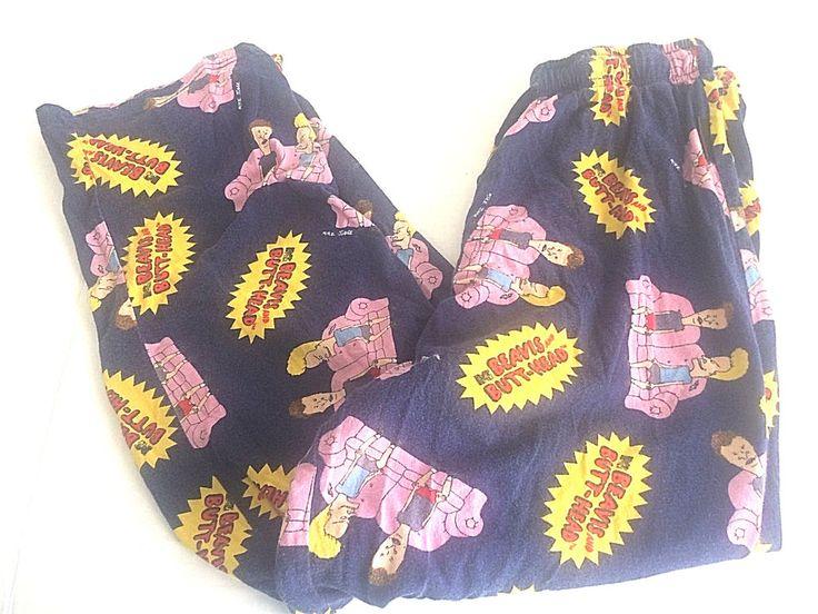 Mens Pajama Pants Beavis & Butthead  Navy Blue Lounge Small 28-30 #BeavisButthead #LoungePants