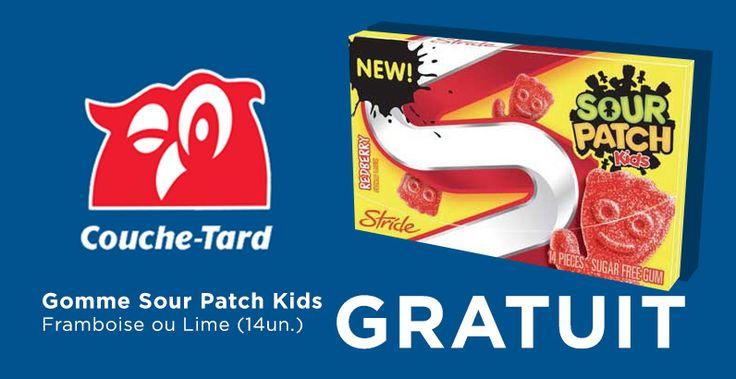 GRATUIT - Gomme Stride Sour Patch Kid gratuite