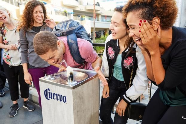 Jose Cuervo Streamed From Water Fountains in L.A. in Honor of National Tequila Day - Print (video) - Creativity Online