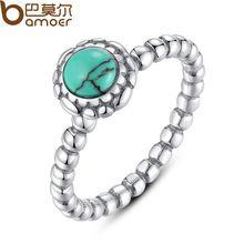 Elegant Green Stone Ring fit Original Pandora Ring Wedding Jewelry(China (Mainland))