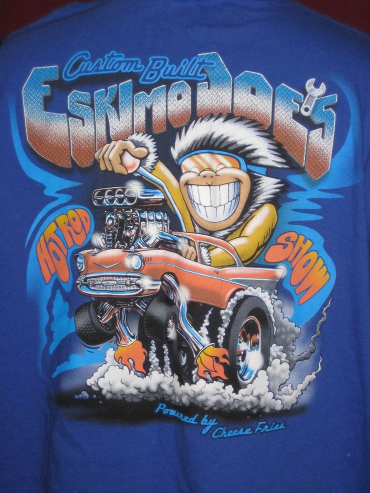 Eskimo Joe's Garage Custom Built Hot Rod Show T Shirt Sz XXXL 3XL (54-56) Blue #Hanes #GraphicTee
