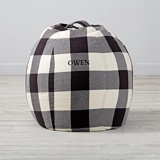 """30"""" Buffalo Check Personalized Bean Bag Chair  