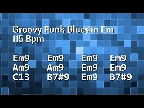 (20) Funky & Groovy Blues Backing Track  (E Minor) - 115 Bpm - YouTube