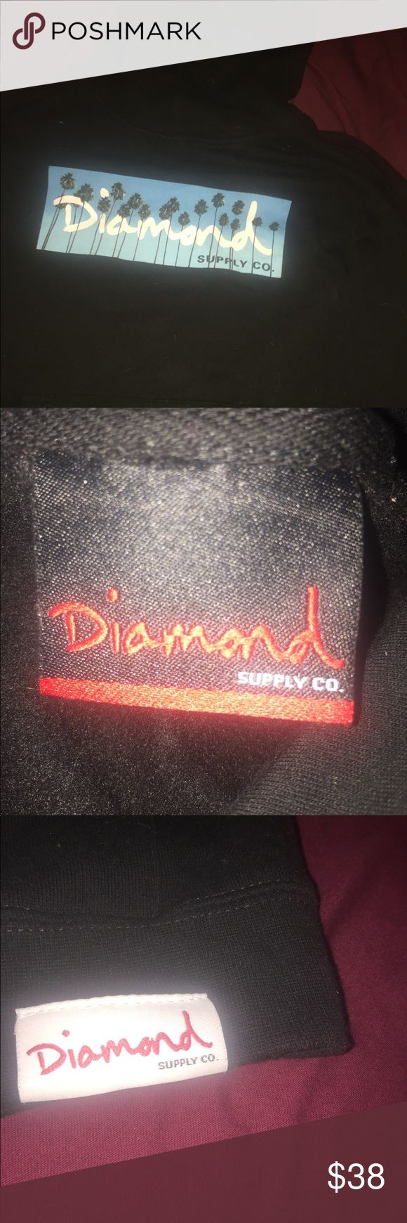 Diamond Supply Co Hoodie Like new! Fits like a Women's Medium/Large. Or a Men's Small! Feel free to ask questions! Diamond Supply Co. Jackets & Coats