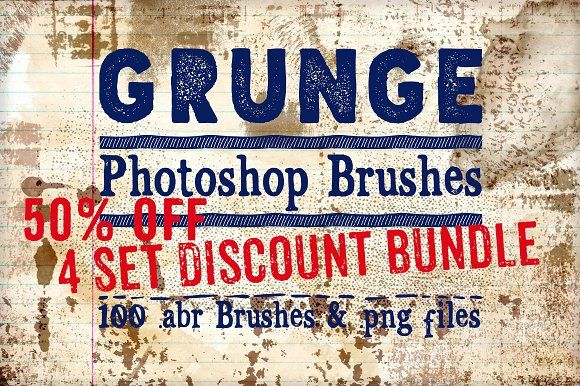 Grunge Photoshop Brushes 50% Off  by Clikchic Designs on Creative Market