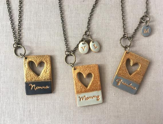Mother/'s Day Gift Family Grandma Engraved Letters Love Pendant Necklace Jewelry