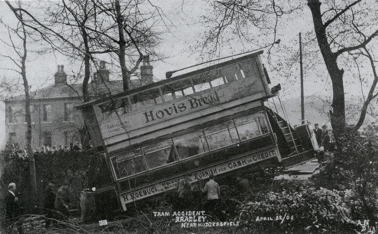 Tram Accident in Bradley, Huddersfield