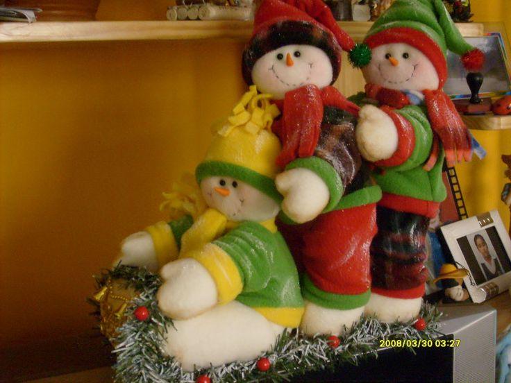 muñecos navideños con moldes - Buscar con Google