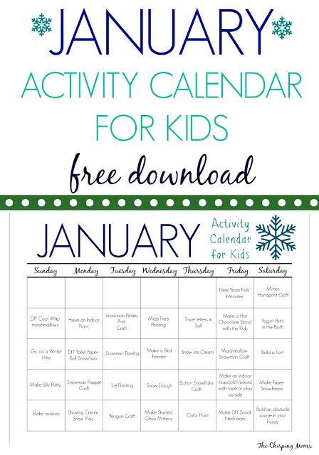 January Calendar Kids : The best january calendar ideas on pinterest