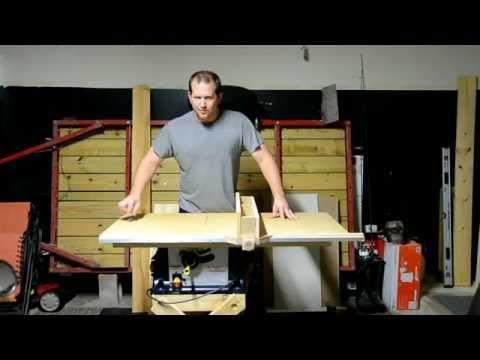 Improving a Cheap Table Saw - Top and Rip Fence - YouTube