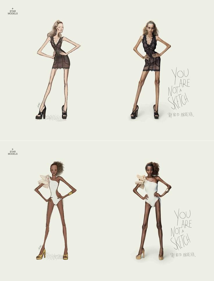 """Star Models: Nie jesteś szkicem. Powiedz """"nie"""" anoreksji."""