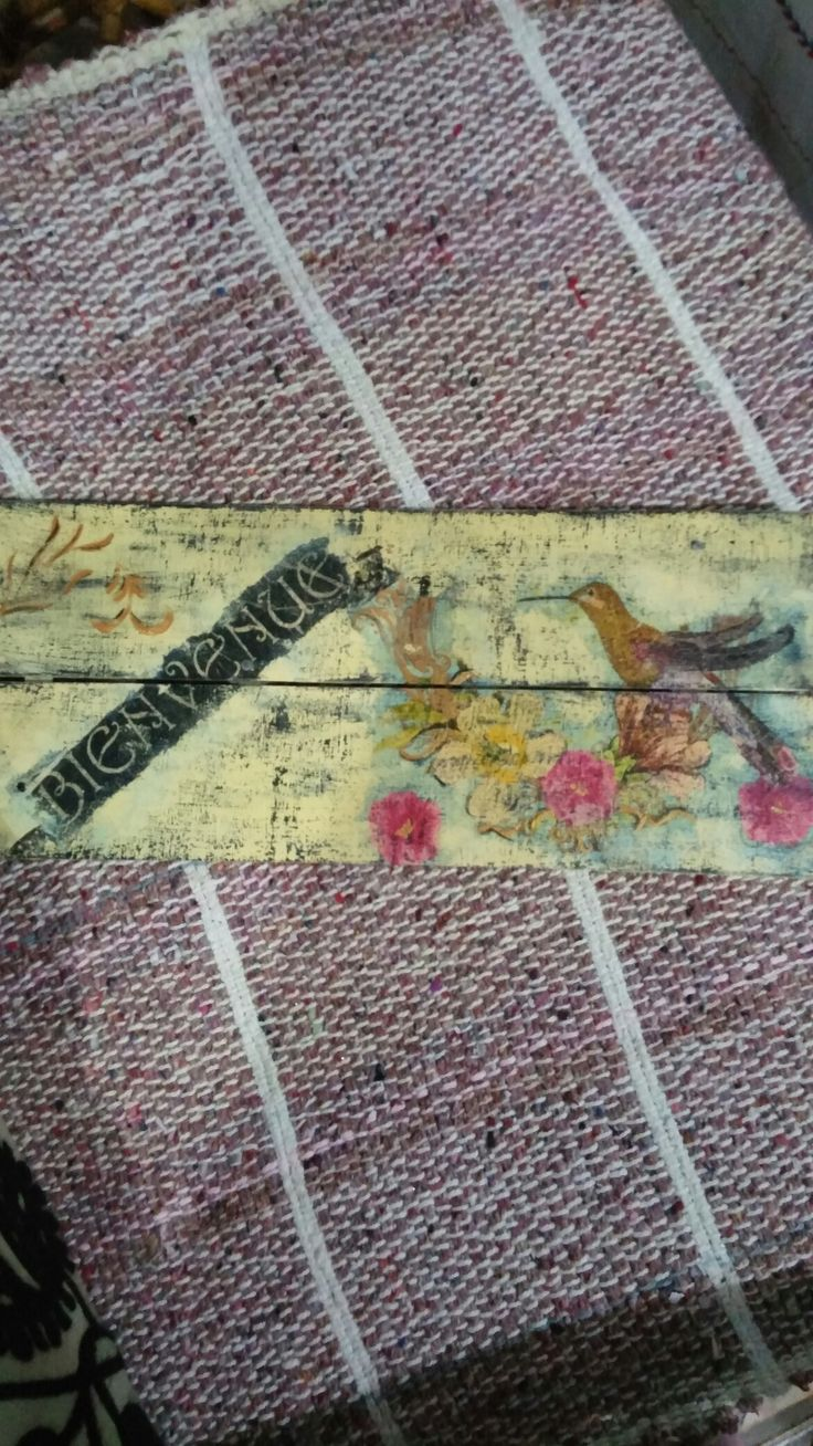 Tablilla decoupage vintage