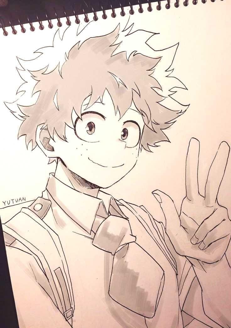 Bokunoheroacademy Character Cutest Anime Deku This The On Deku The Cutest Character On This Anime Bokunohero In 2020 Anime Sketch Anime Drawings Sketches Anime