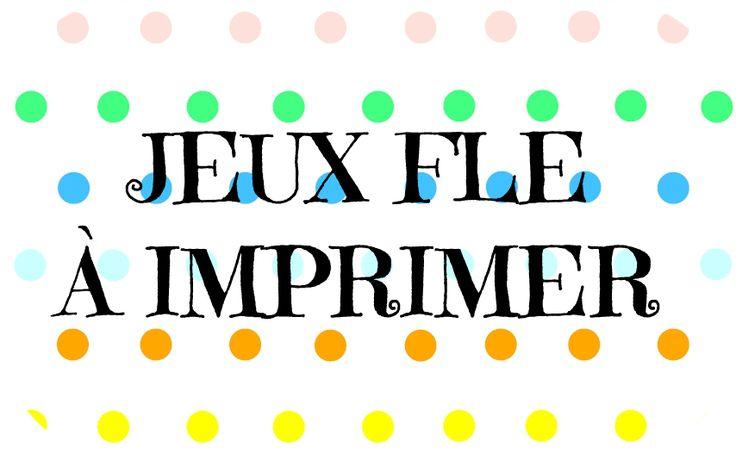 Francés hasta en la sopa...: Jeux pour la classe de FLE à imprimer (recopilatoire)