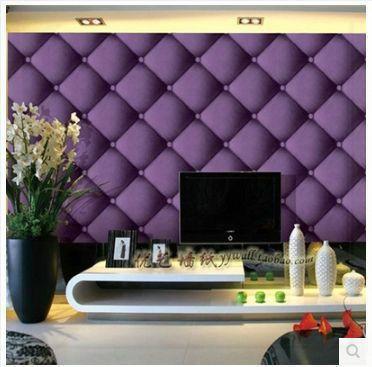 Goedkope Paars Stereo 3d Zachte Tas Behang Vierkante Grote Plaid Behang  Ofhead Tv Achtergrond Muur 0.53 M X 10 M Woonkamer, Koop Kwaliteit  Wallpapers ...