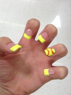 Nailsbyamyb - Softball Nails | Softball Nails | Pinterest