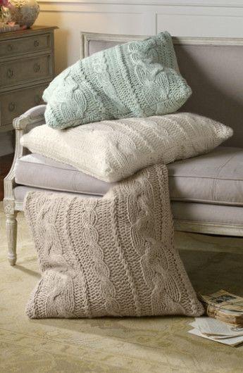 Cable Knit Euro Sham - Cable Knit Pillow Shams, Cable Knit Shams | Soft Surroundings