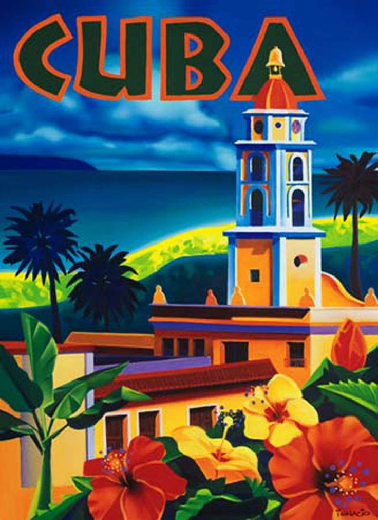 images of travel posters | Cuba - vintage tourism posters wallpaper image