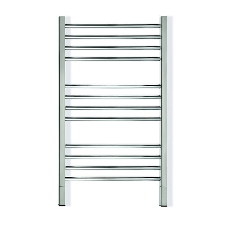 Straight/Round/Black Heated towel rail. Quadro P straight round rail with square uprights. 12 Bars Output W 150. Order one now at $1,049.00. FREE Shipping Australia.
