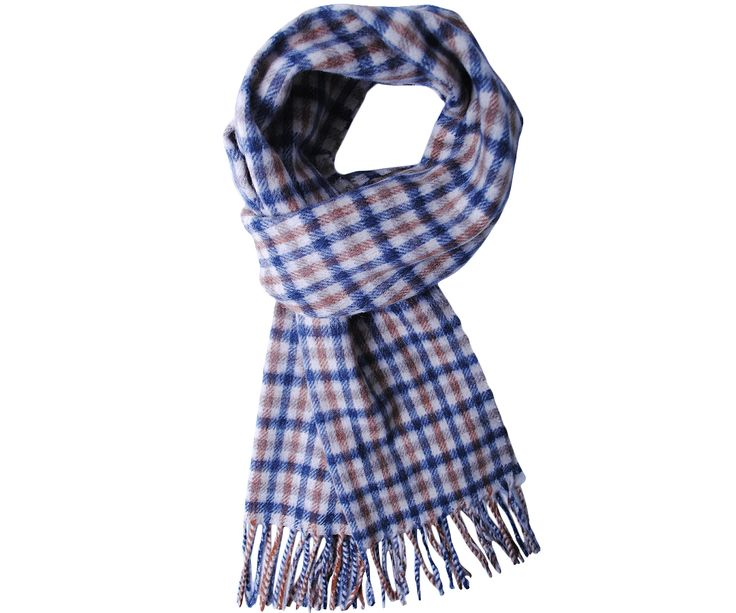 Aquascutum Lambswool Club Small Check Scarf - Terraces Menswear