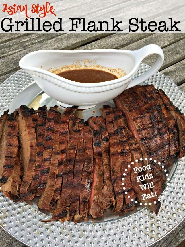 asian style flank steak marinated steak grilled flank flank steak ...