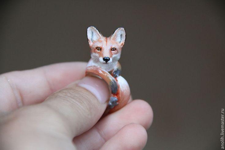 Купить или заказать Кольцо 'Лиса'. Кольца с животными. в интернет-магазине на Ярмарке Мастеров. Кольцо Лиса для себя любимой или ей в подарок. Срок изготовления займёт пару дней. При заказе укажите в комментарии к нему размер вашего ко…