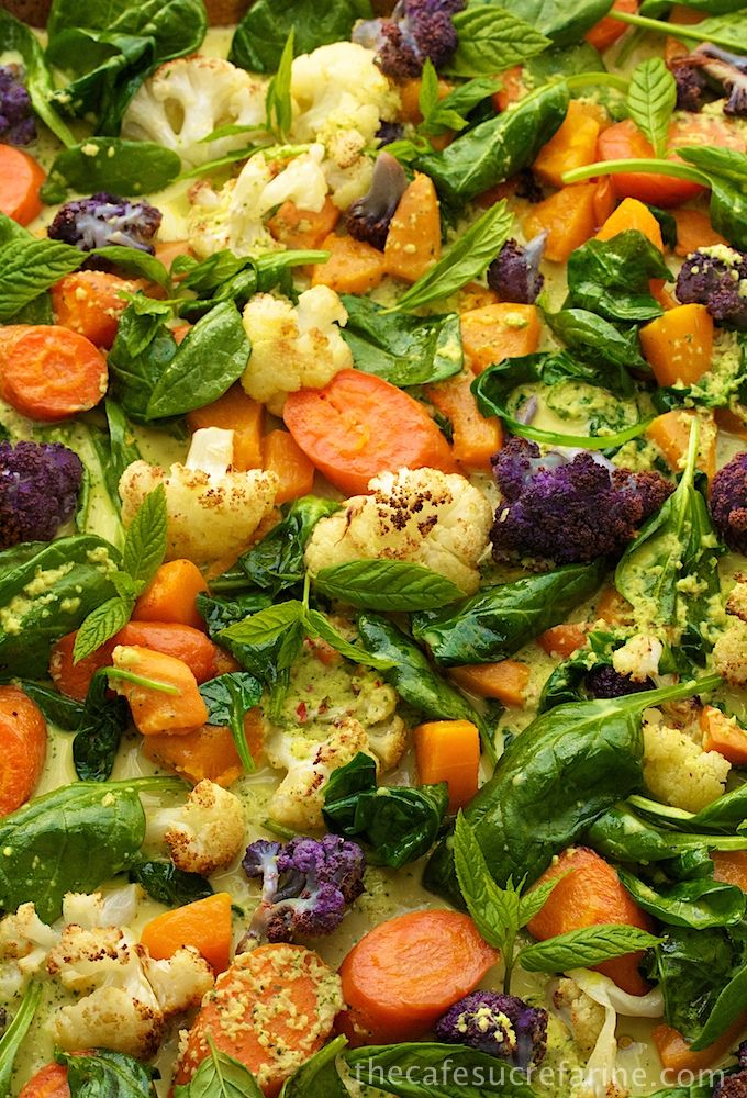 Roasted Veggie Coconut Curry with basil, mint and cilantro (1) From: The Cafe Sucre Farine, please visit