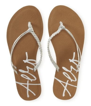 Aéropostale Strappy Metallic Flip-Flop. Must have for the summer