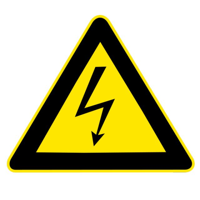 Science Laboratory Safety Signs: High Voltage Warning Sign