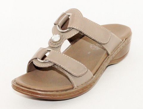 37273 Two Bar Sandal (taupe) by Ara