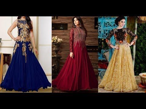 Latest Indian Long Gown Dress Designs