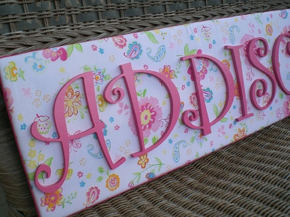 Name and letter plaques: Gardens Party, Nurseries, Crafty Things, Green Letters, Crafts Idea, Barns Gardens, Plate Names, Letters Plaque, Pottery Barns