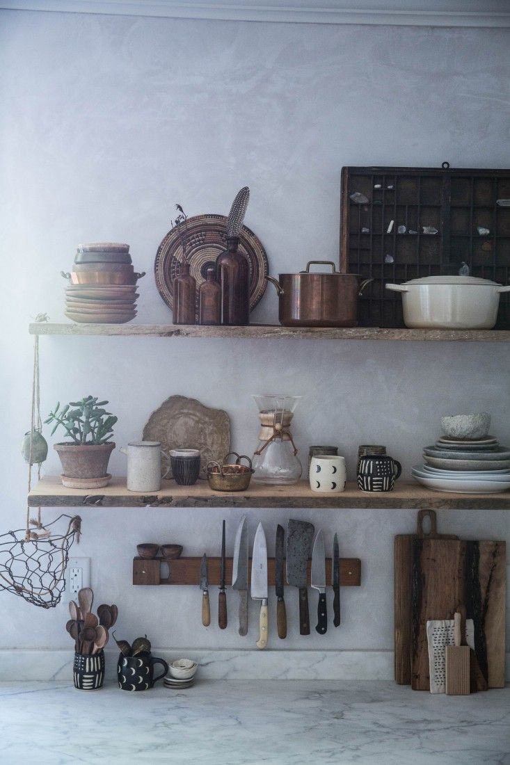 kitchen styling and renovation inspiration - open storage and shelving