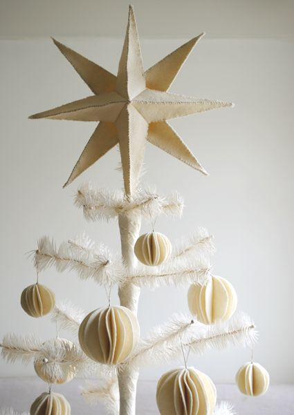 Molly's Sketchbook: Felt Snow BallOrnaments - The Purl Bee - Knitting Crochet Sewing Embroidery Crafts Patterns and Ideas!