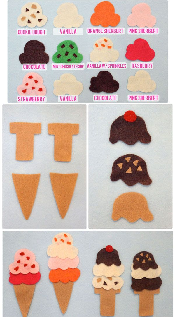 The Busy Budgeting Mama: diy icecream felt board. Cute!