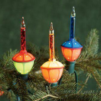 christmas decor 1950s style - Antique Christmas Lights