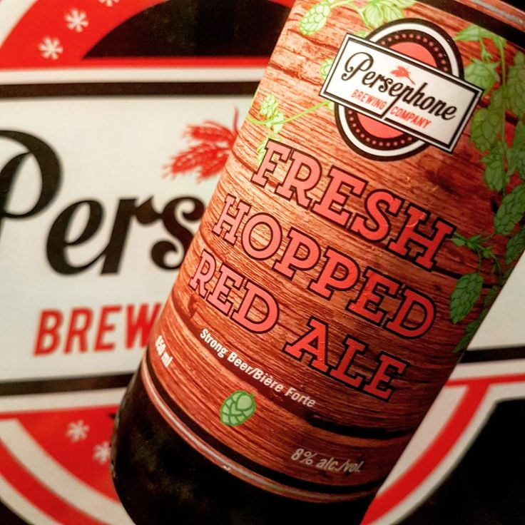 Persephone Brewing Company's Fresh Hopped Red Ale make me smile like a Grandpa sleep-farting in his old leather chair after Thanksgiving dinner.