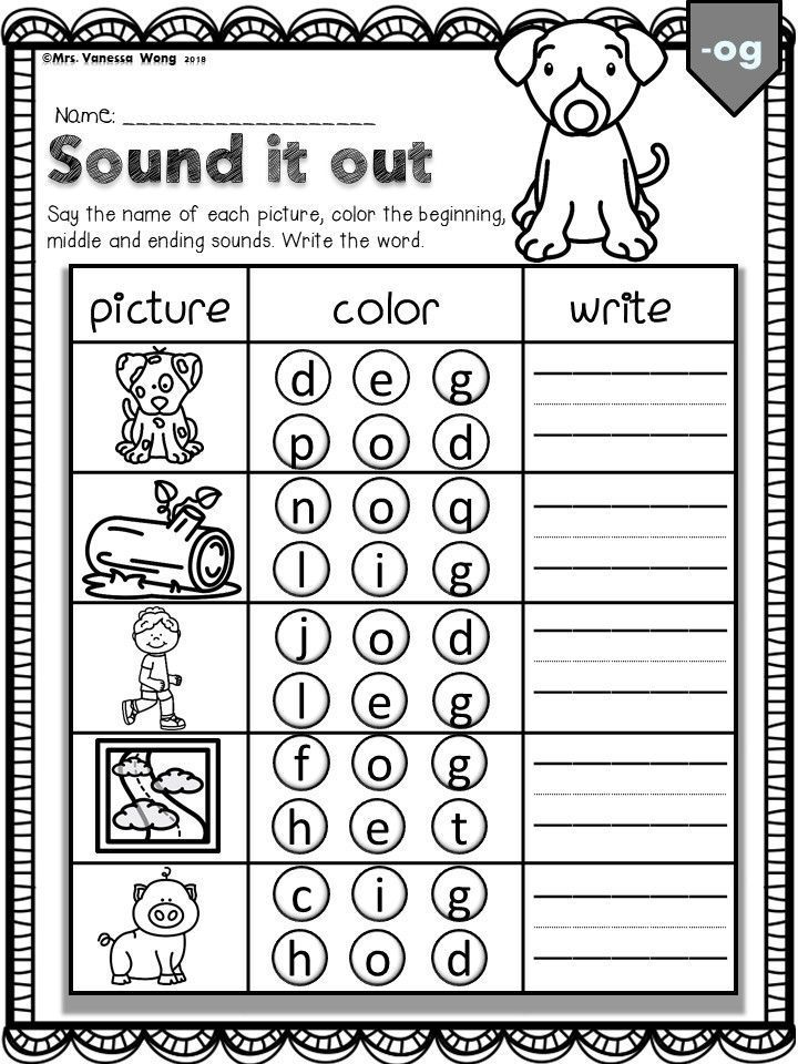 Phonics Cvc Sound It Out Kindergarten First Grade Distance Learning Actividades De Fonetica Materiales Didacticos Didactico