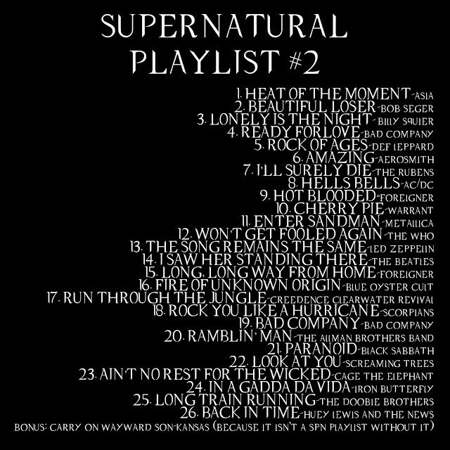 Supernatural Playlist 2 | Supernatural Music