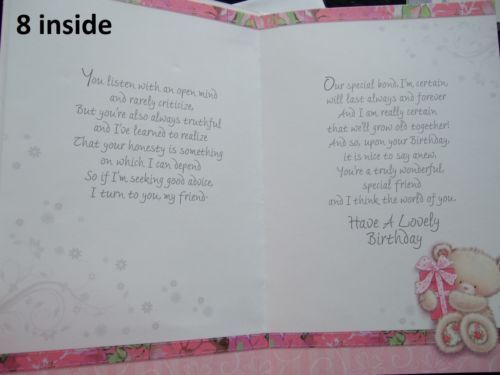 17 best card sayings images on pinterest printables feelings special friend birthday cards with fabulous verses choice of design lk bookmarktalkfo Choice Image