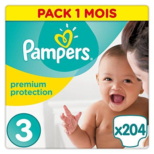 Pampers - New Baby - Couches Taille 3 (5-9 kg/Midi) - Pack Economique 1 Mois de Consommation (x204 couches) - http://www.darrenblogs.com/2017/02/pampers-new-baby-couches-taille-3-5-9-kgmidi-pack-economique-1-mois-de-consommation-x204-couches/