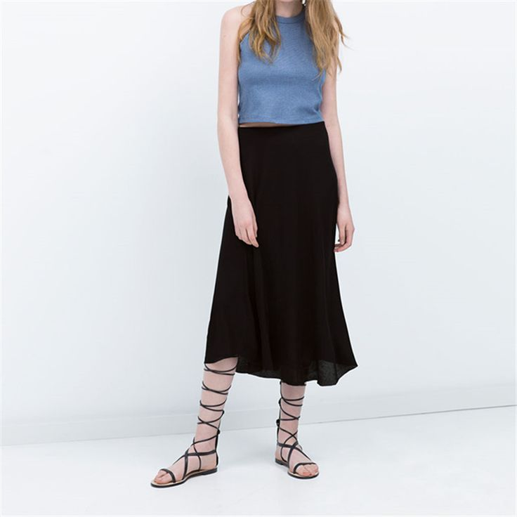 6XL 7XL Plus Size Women Autumn Spring Black Casual Long Maxi A-Line Skirt Fashion Solid American Apparel Cotton School Skirt