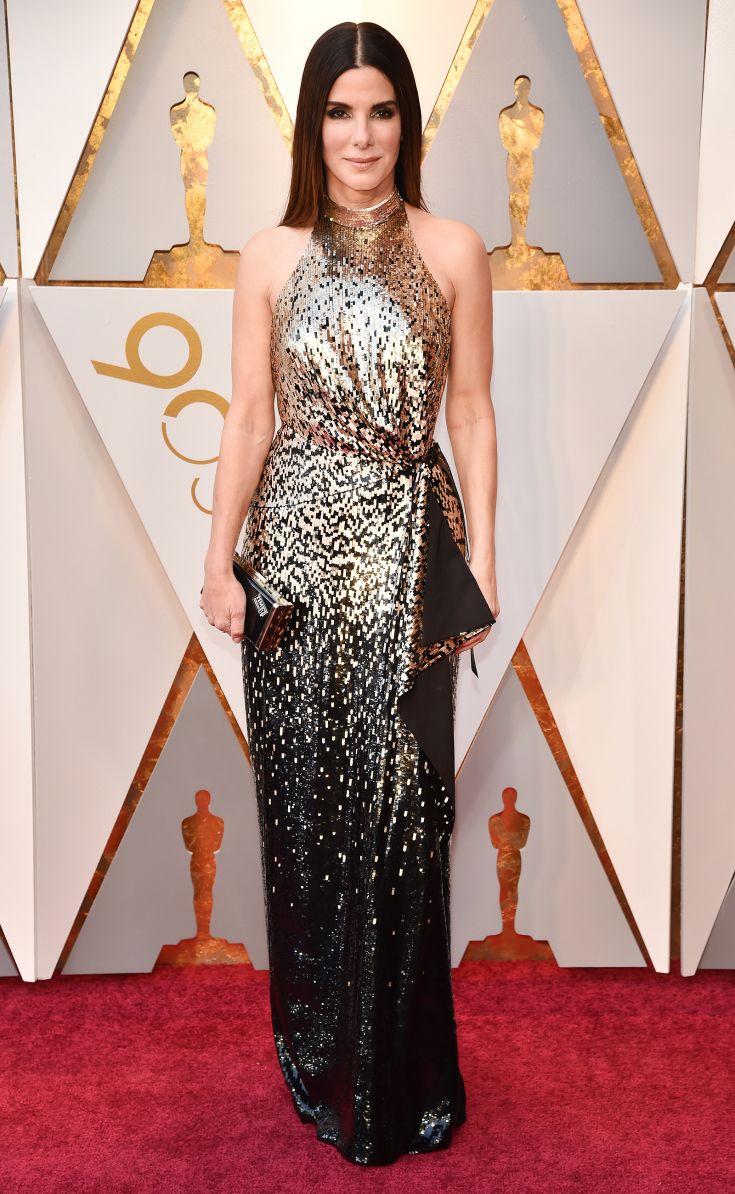 Sandra Bullock in Louis Vuitton at the 2018 Oscars