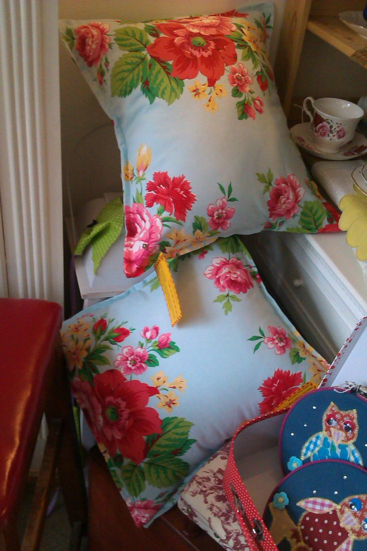 Shabby Chic Floral Cushions £15 each