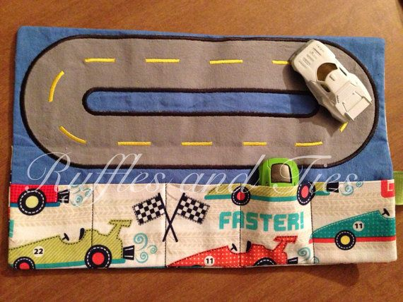 Toy car carrier roll up by Rufflesandtiesms on Etsy, $15.00 ...  Very cool.