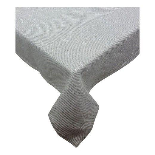Metallic Chevron Tablecloth Large White - Threshold™ : Target